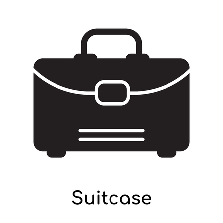 Suitcase icon isolated on white background for your web and mobile app design