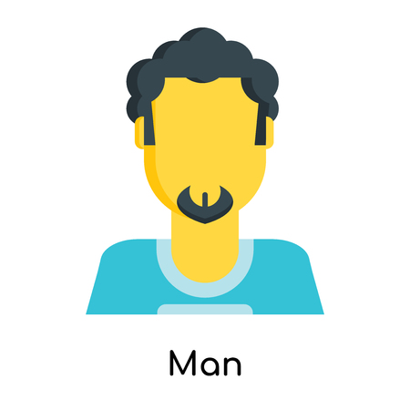 Man icon isolated on white background for your web and mobile app design Illustration