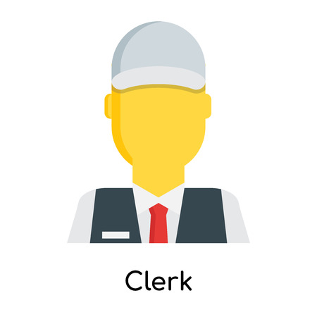 Clerk icon isolated on white background for your web and mobile app design Illustration