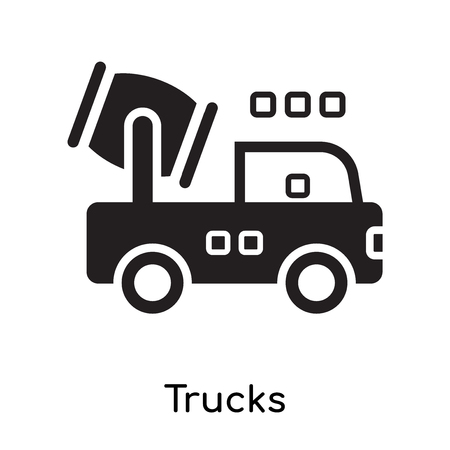 Trucks icon isolated on white background for your web and mobile app design