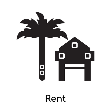 Rent icon isolated on white background for your web and mobile app design