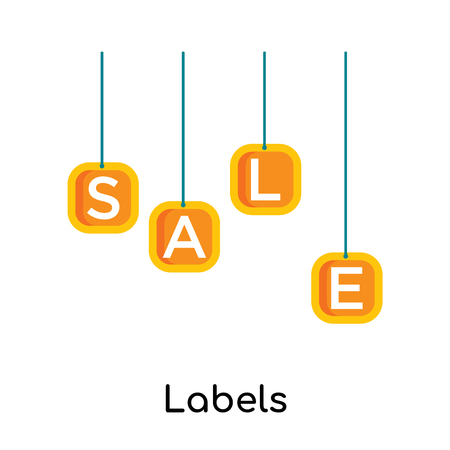 Labels icon isolated on white background for your web and mobile app design Illustration