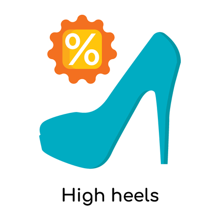 High heels icon isolated on white background for your web and mobile app design