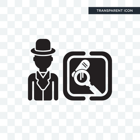 Detective vector icon isolated on transparent background,
