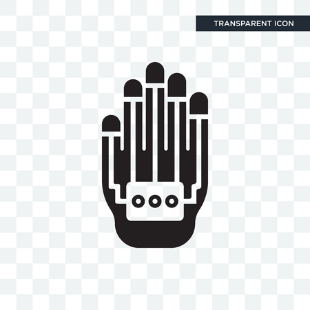 Wi gloves vector icon isolated on transparent background,