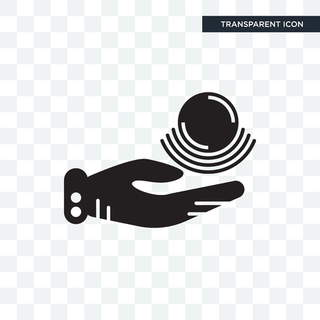 Telekinesis vector icon isolated on transparent background,