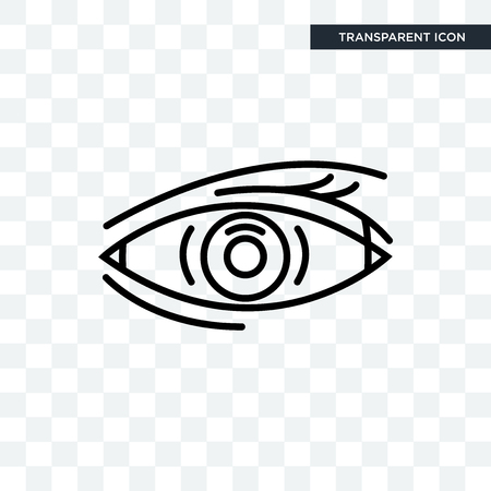 Human Eye vector icon isolated on transparent background, Illustration