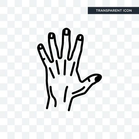 Men Hand vector icon isolated on transparent background, Men Hand logo concept