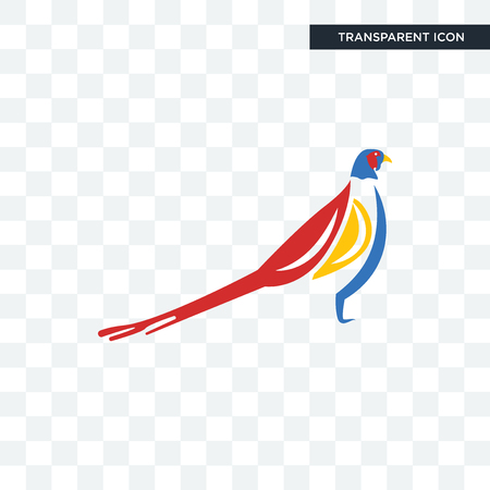 pheasant vector icon isolated on transparent background, pheasant logo concept