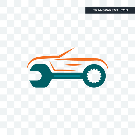 auto body repair vector icon isolated on transparent background, auto body repair logo concept Çizim