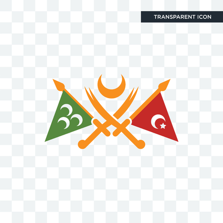 ottoman empire vector icon isolated on transparent background, ottoman empire logo concept Stock Illustratie