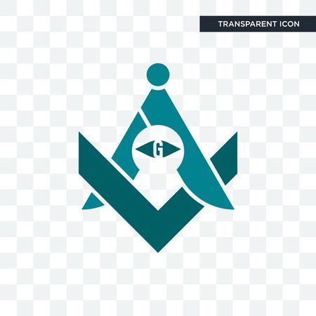 freemasons vector icon isolated on transparent background, freemasons logo concept Illustration