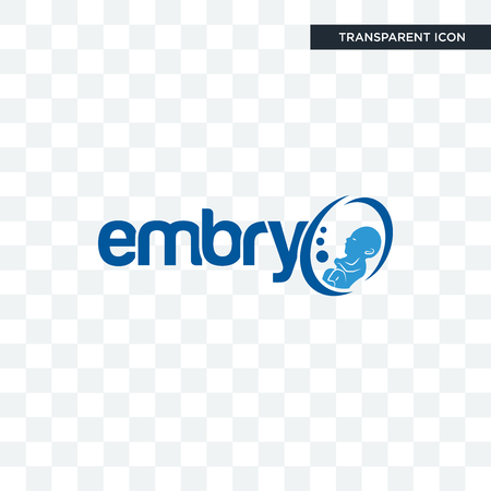 embryo vector icon isolated on transparent background, embryo logo concept Vectores