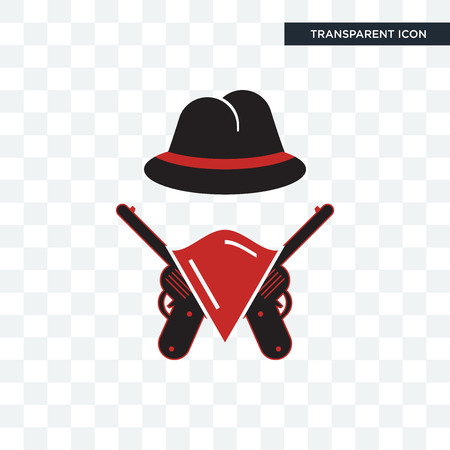 outlaws vector icon isolated on transparent background, outlaws logo concept