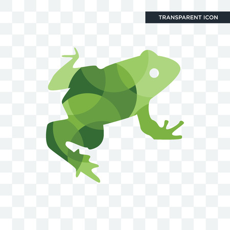 big frog vector icon isolated on transparent background, big frog logo concept