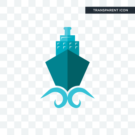 shipping company vector icon isolated on transparent background, shipping company logo concept