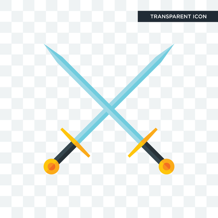 excalibur vector icon isolated on transparent background, excalibur logo concept Illustration