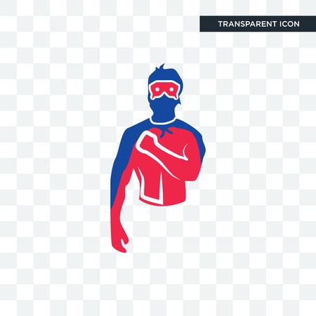generic superhero vector icon isolated on transparent background, generic superhero logo concept Ilustração