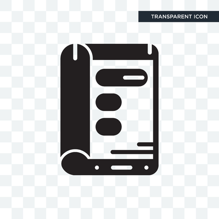 Display vector icon isolated on transparent background