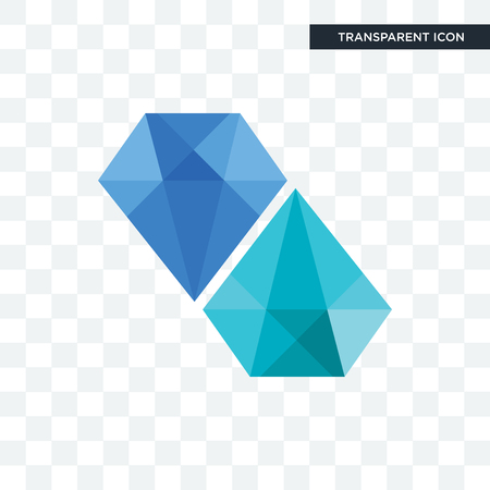 diamond vector icon isolated on transparent background, diamond logo concept