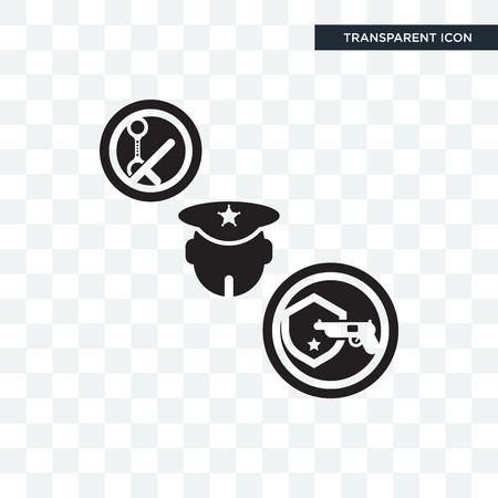 Policeman vector icon isolated on transparent background, Policeman logo concept