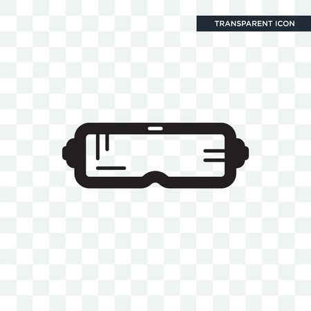 VR vector icon isolated on transparent background,