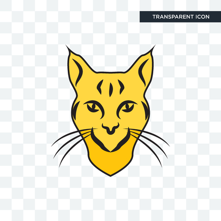 bobcat vector icon isolated on transparent background, Illustration
