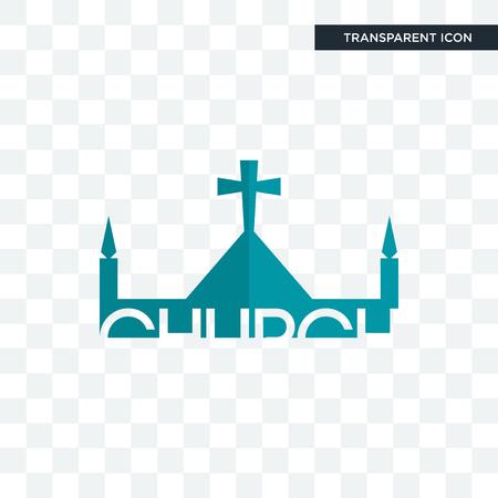 church vector icon isolated on transparent background, church logo concept Archivio Fotografico - 103508670