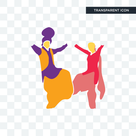 bhangra vector icon isolated on transparent background, bhangra logo concept