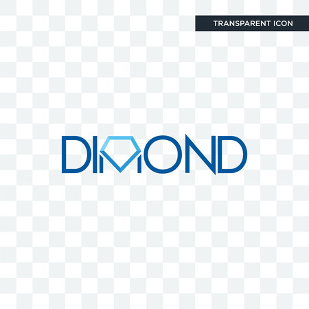 dimond vector icon isolated on transparent background, dimond logo concept Banco de Imagens - 103508744