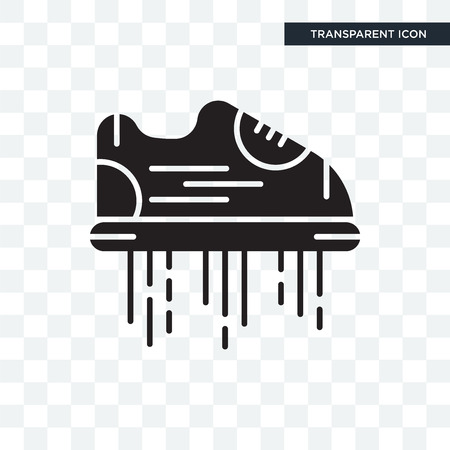 Flying shoes vector icon isolated on transparent background, Flying shoes logo concept
