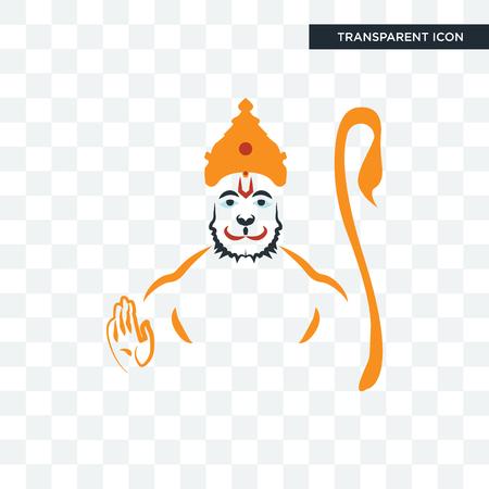 hanuman vector icon isolated on transparent background, hanuman logo concept