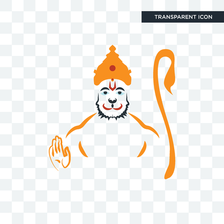 hanuman vector icon isolated on transparent background, hanuman logo concept