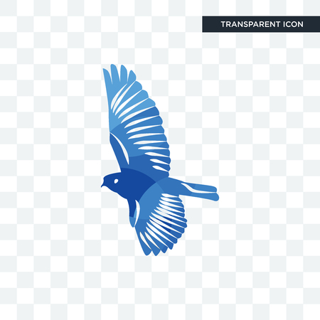 bird vector icon isolated on transparent background, bird logo concept