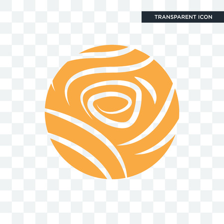 golden rose vector icon isolated on transparent background, golden rose logo concept