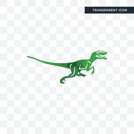 velociraptor vector icon isolated on transparent background, velociraptor logo concept