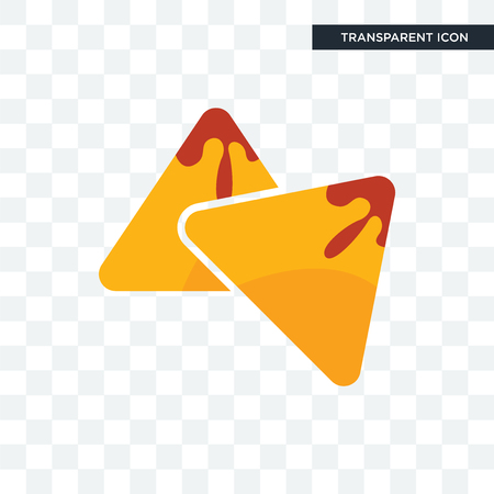 samosa vector icon isolated on transparent background, samosa logo concept