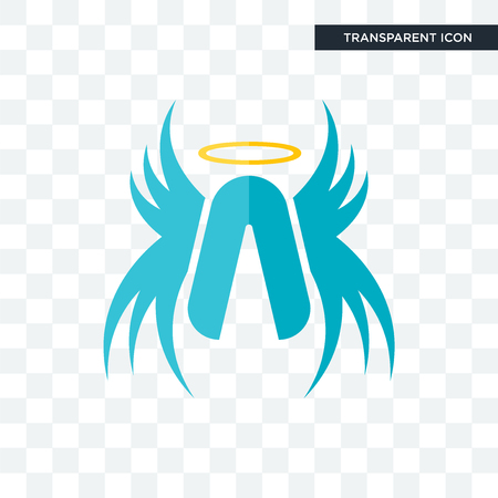 archangel vector icon isolated on transparent background, archangel logo concept