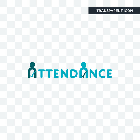 attendance vector icon isolated on transparent background, attendance logo concept Çizim