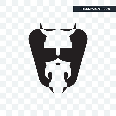 vikings vector icon isolated on transparent background, vikings logo concept