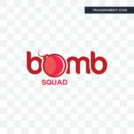 bomb squad vector icon isolated on transparent background, bomb squad logo concept