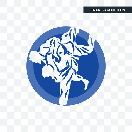 jiu jitsu vector icon isolated on transparent background Vettoriali