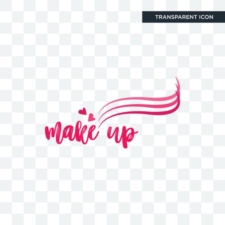 make up vector icon isolated on transparent background, make up logo concept