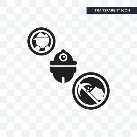 Miner vector icon isolated on transparent background, Miner logo concept