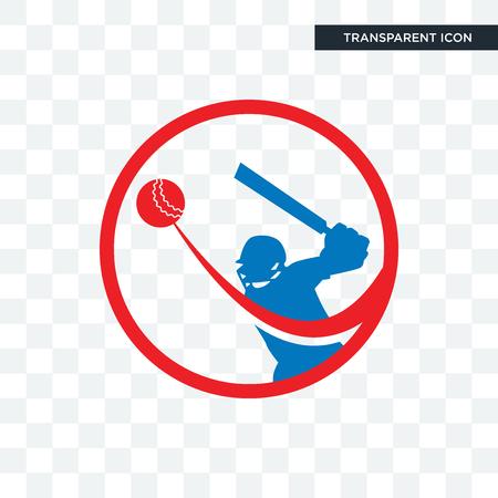 batsman vector icon isolated on transparent background, batsman logo concept