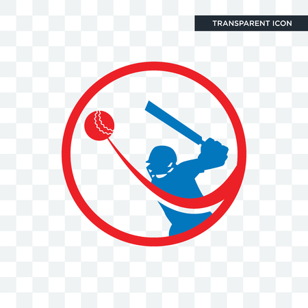 batsman vector icon isolated on transparent background, batsman logo concept