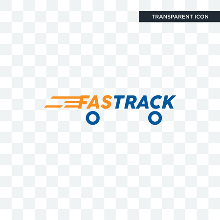fastrack vector icon isolated on transparent background, fastrack logo concept