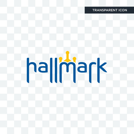 hallmark vector icon isolated on transparent background, hallmark logo concept Illustration