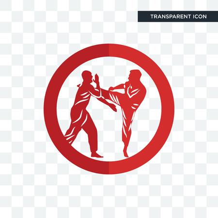 krav maga vector icon isolated on transparent background, krav maga logo concept Ilustração