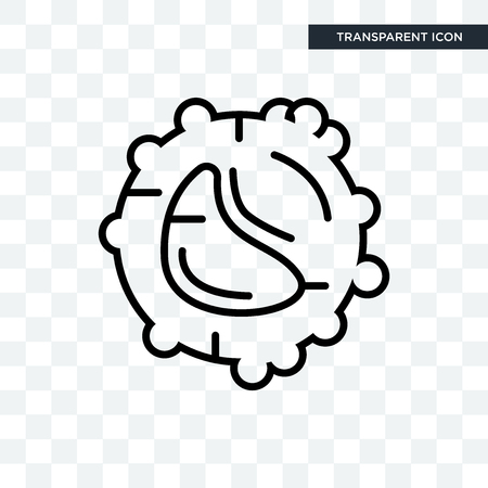 White blood cell vector icon isolated on transparent background, White blood cell logo concept